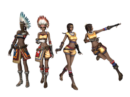 'Land of Chaos Online' Deerfeet pack XPS ONLY!!! by lezisell