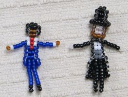 Beaded US Presidents Lincoln and Obama by Anabiyeni
