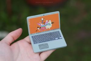 Miniature Laptop for a doll by striped-box