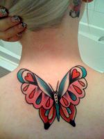 Butterfly tattoo by MissKellyLouise