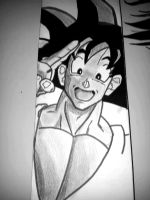 Hi! I'm Goku n I was drawn on the Arrow's wall by CursedArrow