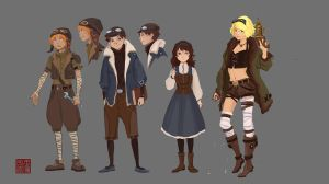 steam punk character design by 7point7