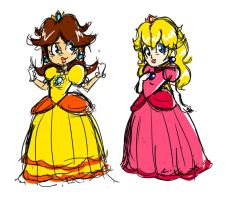 Peach-and-Daisy by Trent-Michaels