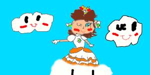 Princess Daisy in a Cloud power suit by PrincessDaisyRocks10