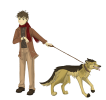 Rolf H walking his dog by rolfwolf