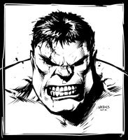 Hulk sketch by FlowComa