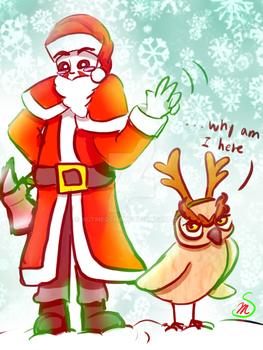 Don't be scared, Santalirious is here! by Nutmegchan