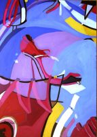 abstract pop art shoes oil painting by ahmetbroge