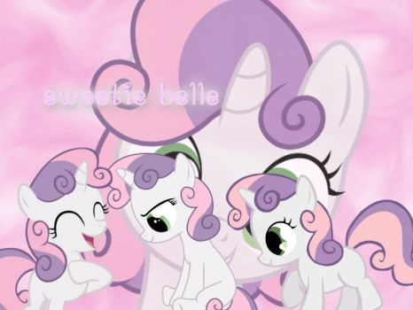 sweetie belle wallpaper by volteon999