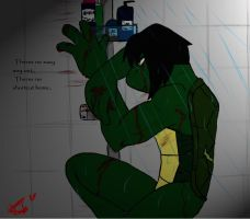TMNT Leo jr: No easy way out by LLaUrAvEgKK