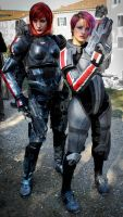 double fem Shepard - Mass Effect by NDC880117