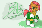 Babs the Green Ranger by PisumSativum