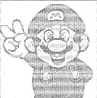 ASCII mario by Bran-new-Lovesong