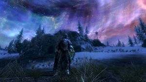 Skyrim Nightsky Wallpaper by ErebusRed