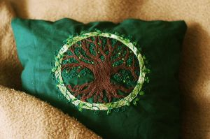 Tree of Life cushion by nimuae