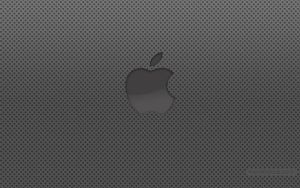 Apple logo wallpaper holes by kremalicious