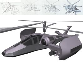 Helicopter: Concept to Model by pndrgn