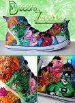Green Lantern custom shoes hand painted by Raw-J