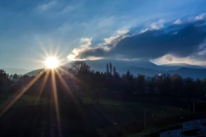 Sunset in Midi-Pyrenees by eVolutionZ