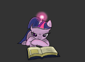 NATG Day 23: Some Late Night Reading by Dawn-Sparkle06