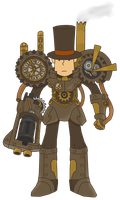 Professor Layton and the Steampunk Chozo by Gentlemanly