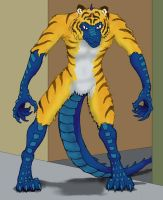 The Lizard-Tiger Creature by picklejuice13