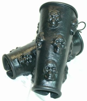 Stolen souls bracers in black 1 by GriffinLeather