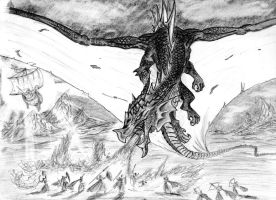 Ancalagon the Black by MoranThir