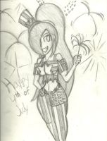 Happy 4th of July from Paulinda by InFAMOUS-Toons