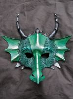 Green Dragon Mask by MummersCat