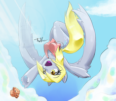 Derpy Dropped her Muffin by Domario