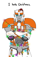 .:CE:. Ratchet Hates Xmas (For Cybertronians!) by a-paranoid-android