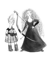 Merida and Wee Dingwall by SillyBunnies