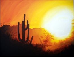 Sonoran Sunset by PaintingPiper