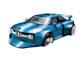 BMW Rendering by littlelongy