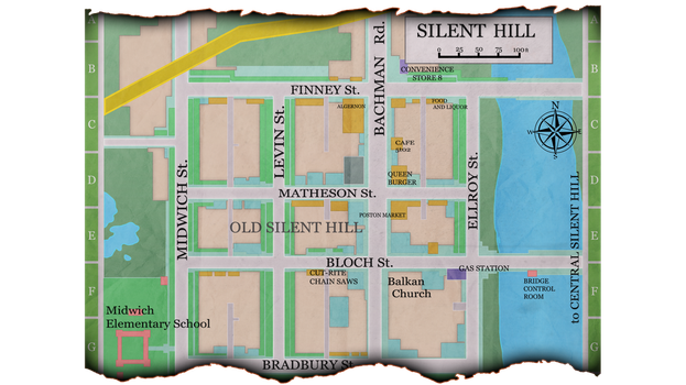 Map of Old Silent Hill by Robogineer