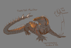 ToothTailedMonitor for Kirdha by ElysianImagery