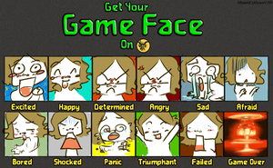 Mai Game faces by Kima-chi