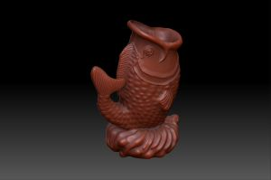 3D fish statue by DevonAG