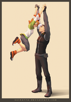 Pidge and Shiro High Five! by SolKorra