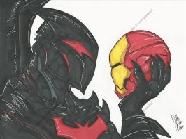 Hellbat v Iron Man: dawn of starks bad day by PonyGoddess