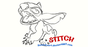 How to draw Stitch by RavenEvert