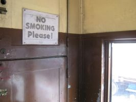 NO SMOKING PLEASE! sign by X5-Stock