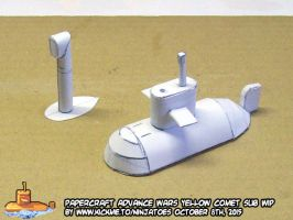 papercraft Advance Wars Sub with big periscope by ninjatoespapercraft