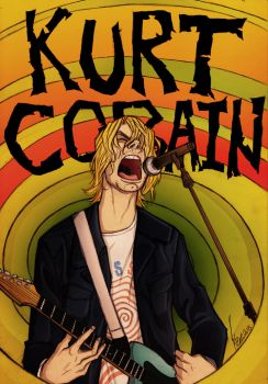 Sketch of Kurt Cobain - By Kyle Butler by KyleButler