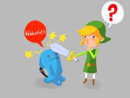 Link and Wobuffet by Urieck