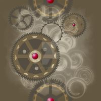 Fabric Design: Steampunk 01 by taeliac