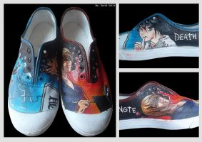 Shoes Death Note L y Kira by Cuytop