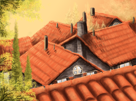 Tile roof wip by CyanLights