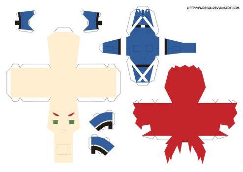 papercraft Scotland by Furesia